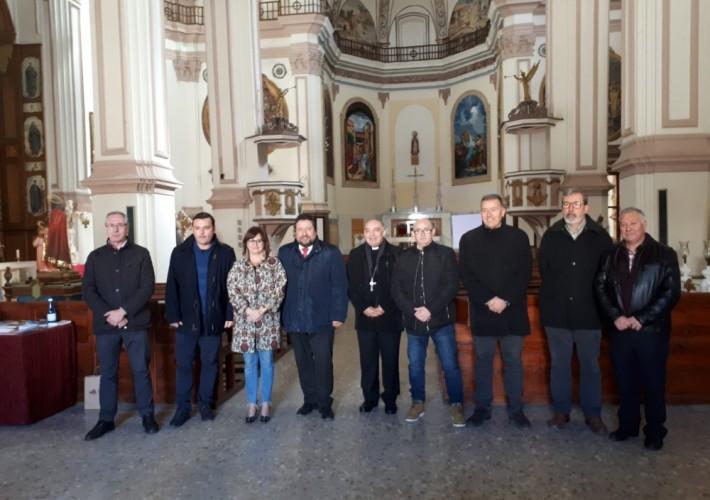 Representantes de los diferentes organismos que visitaron los trabajos (fuente: Castellón información)